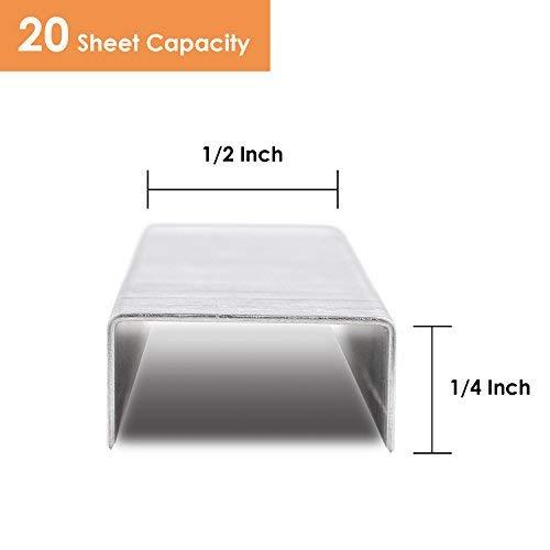 MROCO Staples 8000 Pcs Standard Staples Premium Staples 1/4 Length 20 Sheet Capacity 100/Strip Staples, 1000/ Box Photo #2