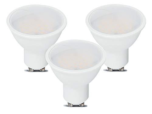 LEDLUX Lampade Faretti Led GU10 10W 1000 Lumens Diffusore Opaca Angolo 110 Gradi Garanzia 5 Anni (3 Pezzi, 4000K)