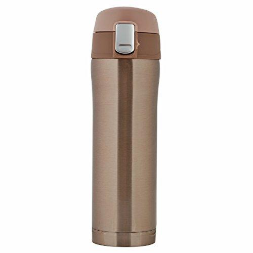 LOMATEE Kaffee Thermobecher aus Edelstahl Auslaufsicher Kaffebecher Reisebecher BPA frei Einhand-Verschluss 420ml für Bahnfahrt, Autofahrt, im Flugzeug usw.