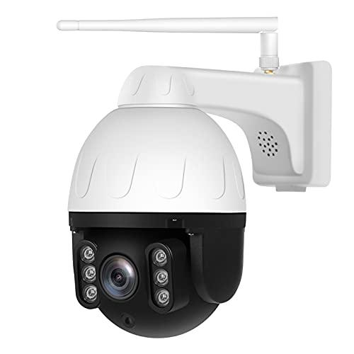 KKmoon Cámara de Seguridad Cámara IP WiFi Inalámbrica Impermeable IP66 para Exteriores con Visión Nocturna Inalámbrica HD de 2MP Detección de Movimiento Audio Bidireccional Acceso Remoto