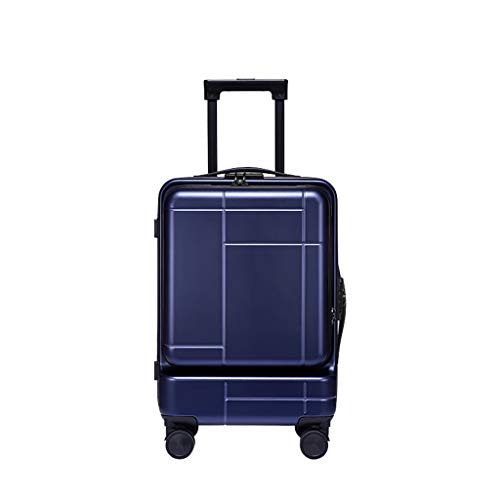 LLRDIAN Hand Carry-on Suitcase Luggage Bag Luggage Suitcase Hand Luggage Hard Shell Luggage Lightweight Hand Luggage Suitcase (Color : Blue, Size : 35×22.5×46cm)