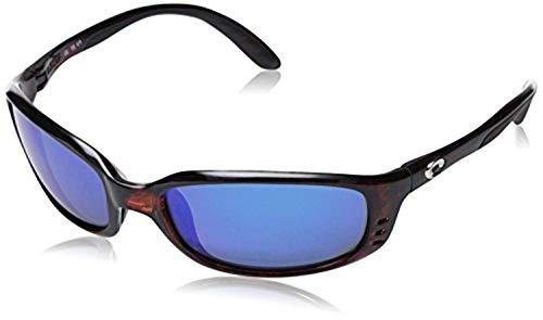 Bundle: Costa Men's Brine Sunglasses Tortoise/Blue Mirror 580G 59 & Carekit