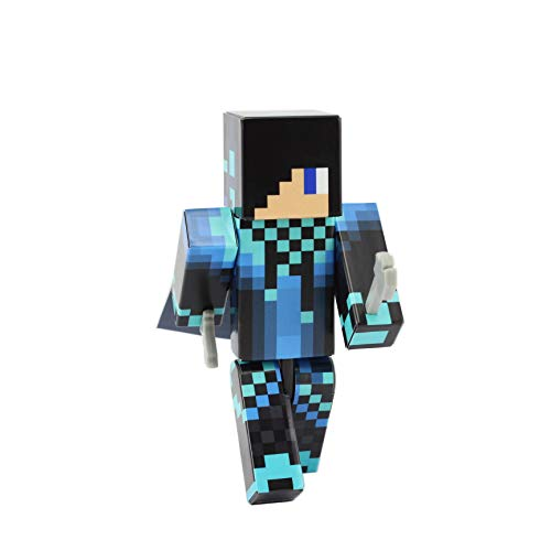 EnderToys Blue Cool Guy Action Figure Toy, 4 Inch Custom Series Figurines