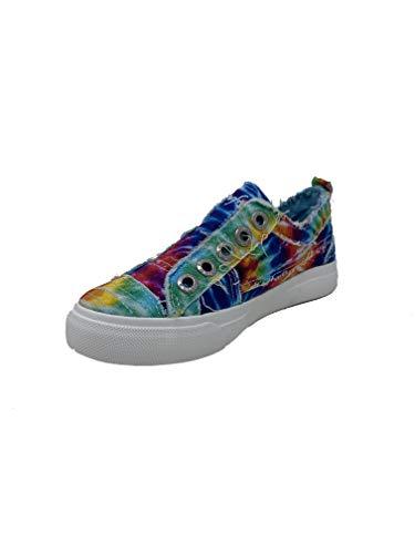 Blowfish Malibu Kids Girls Play-k Sneaker, Rainbow tie dye, 4 Big Kid