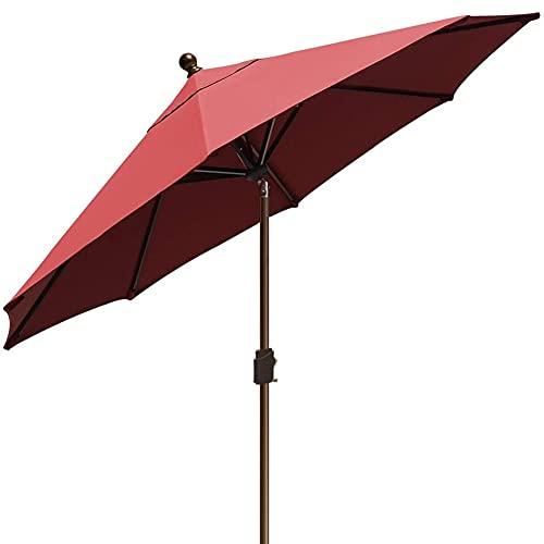 EliteShade Sunbrella 9Ft Market Umbrella Patio Outdoor Table Umbrella with Ventilation and 5 Years Non-Fading Top,Burgundy