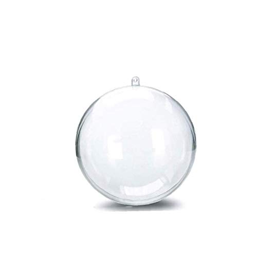 Yoyakie 7 Cm Clear Ornaments Diy Plastic Fillable Christmas Tree Baubles Craft Transparent Ball Gifts for Wedding Party Decor