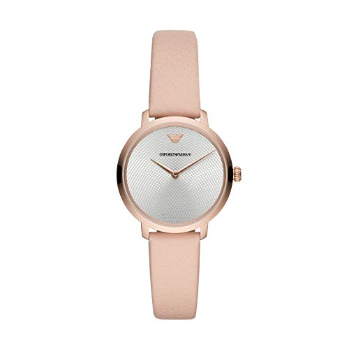 Emporio Armani Damen Analog Quarz Uhr mit Leder Armband AR11160