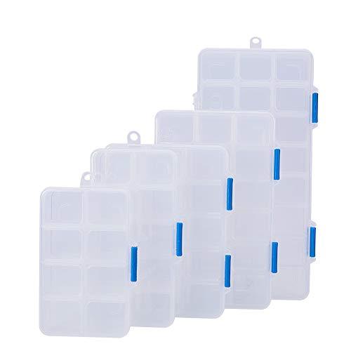 Paquete De 5 Plástico Transparente 7 compartimento organizador de polígono del grano