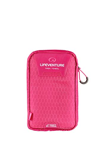 Lifeventure Unisex's SoftFibre Advance Trek handdoek - Large (roze) Compact Sports