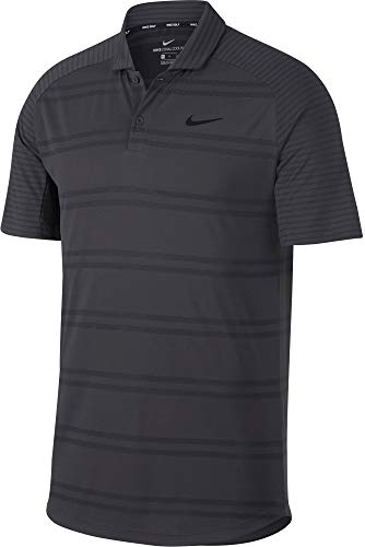 Nike Zonal Cooling Stripe Raglan Golf Polo T-Shirt (Anthracite/X-Large)