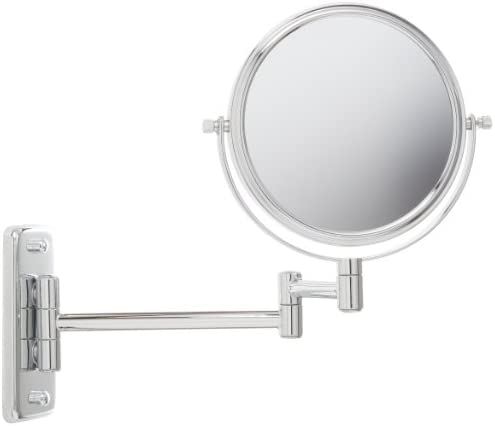 Jerdon JP7508C 6 Inch Wall Mount Makeup Mirror with 5x Magnification Chrome Finish product image