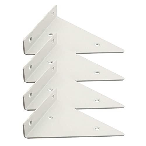 Soportes De Repisa Soporte De Repisa De 4 Piezas Soportes De Repisa Triangulares Soporte De Repisa Invisible Soporte De Metal para Servicio Pesado Soporte De Repisa para Bricolaje Capacidad