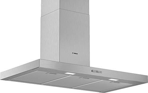 Bosch DWB96BC50 Serie | 2 - Campana decorativa de pared, 90 cm, 3 potencias de extracción, color Acero inoxidable