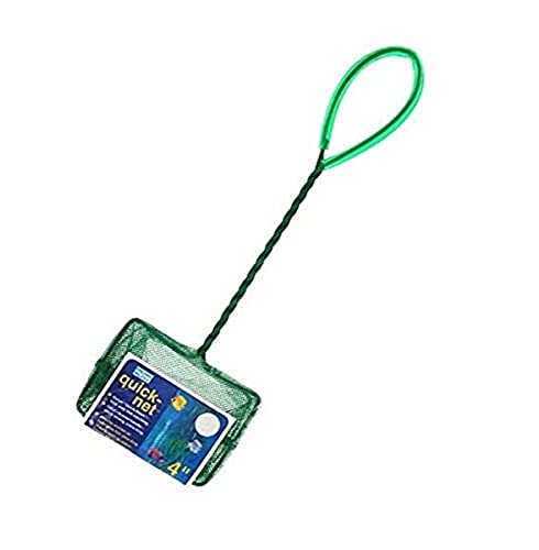 Penn Plax Aquarium Fish Net – Aqua Green Quick Catch Mesh Wire Net Safe for All Fish – 4 Inches