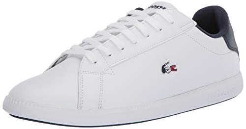 Lacoste womens Graduate Tri 1 Sfa Sneaker, White/Navy/Red, 7.5 US