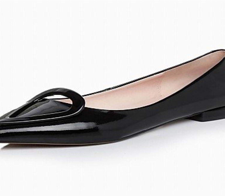 PDX Damen Schuhe Rindsleder flach Absatz Fashion Stiefel spitz Toe Wohnungen Casual Schwarz Rot B01KF3EEX0  Sofortige Lieferung