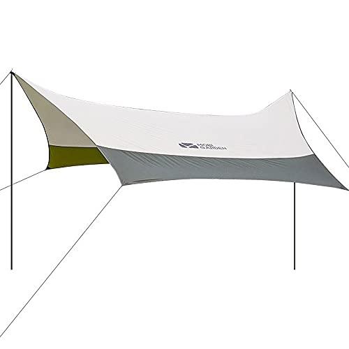 LIALIYA Camping Hamgock Tarp, Camping Tarp Rain Fly Tent Impermeable A Prueba De Viento Ligero Ligero Durable Durable Rebactor, Sombrilla Portátil Playa Sun Shelter Acampar, Senderismo