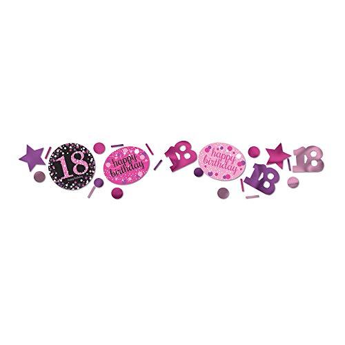 amscan 9900578 Konfetti 18 Pink