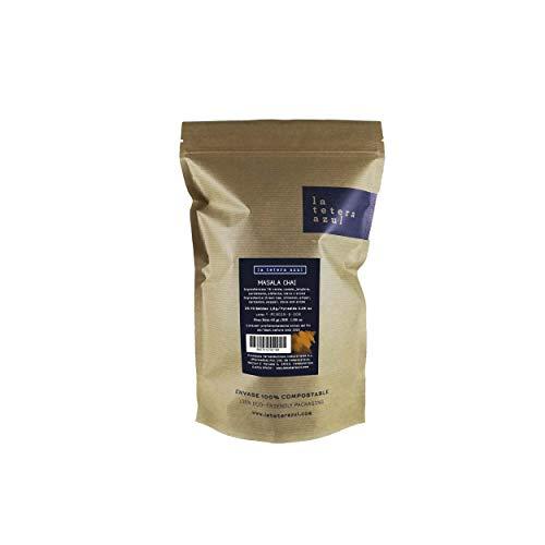 LA TETERA AZUL Premium groene thee met kaneel en gember. Afslankinfusie. Masala Chai. 25 piramides in individueel geval.