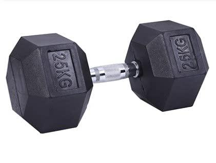 Generisch Hexagon Hantel gummiert bodenschonend Fitness und Krafttraining 25kg (einzeln)
