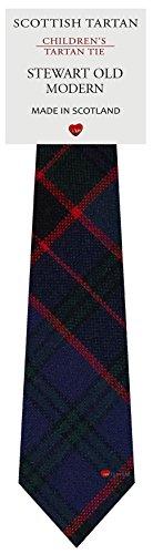 I Luv Ltd Garçon Tout Cravate en Laine Tissé et Fabriqué en Ecosse à Stewart Old Modern Tartan