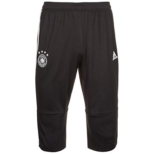 adidas Men's Soccer Germany 3/4 Training Pant (Small) Black/Grey Two/White