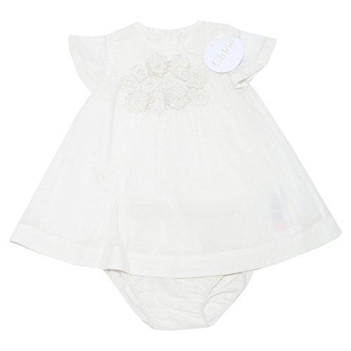 Chloé 9559H Set Abito Slip Bimba completino Vestito Dresses Kids [12 MESI]