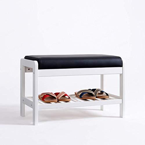 Zapatero, Zapatillas a prueba de polvo Gabinete de madera Zapato de madera Banco de almacenamiento Gabinete de organizador con cojín de asiento, Cambio de zapatos Taburete para la entrada de la puerta