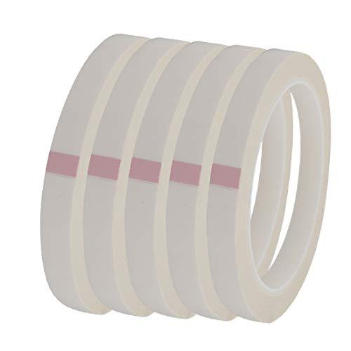 X-DREE 5 stücke 12mm Breite 164Ft Lange Einseitige Starke Selbstklebende Mylar Tape Weiß (e0c62ae76f6c12e25282f7c8bb4ce69d)