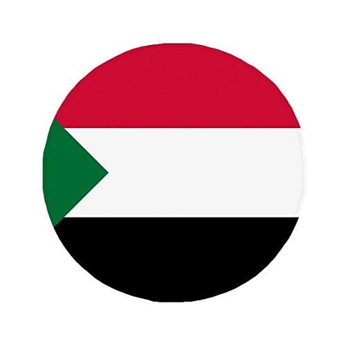 DIYthinker Sudán Bandera Nacional África país Antideslizante Alfombra Pet Redonda baño salón Cocina Puerta 80cm Regalo