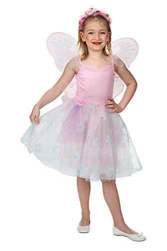 Andrea Moden 161-104 - Kinderkostüm Blumenfee, Kleid mit Flügeln, Größe 104 cm, Prinzessin, Ballerina, Tüllrock, Motto Party, Karneval