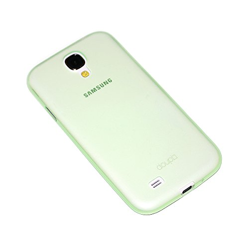 doupi UltraSlim Custodia per Samsung Galaxy S4, Satinato fine Piuma Facile Mat Semi Trasparente Cover, Verde