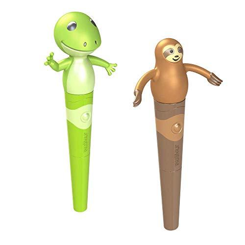 TalkTools® Jiggler™   Sloth & Frog   Chewable Oral Facial Massager, Set of 2 Oral Sensory Massager   Calming Motor Therapy for Kids