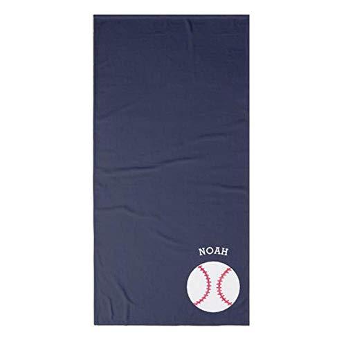 Gbcyp Sport-badhanddoeken, gepersonaliseerd van Baseball – set met handdoeken voor de fitnessstudio, marineblauw