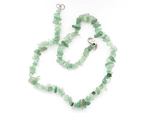 Taddart Minerals - Grüne Splitter Halskette aus dem natürlichen Edelstein Aventurin mit 45 cm Länge - handgefertigt