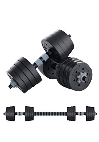 SWIFTFIT Adjustable Dumbells Barbell Weight Set, All in One Including a Barbell Connector for Home Office and Gym (20 LBS Set, 40 LBS Set, 60 LBS Set) (60 LBS Pair/ 30 LBS Each)