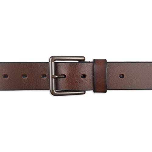 Wolverine Men/'s Two-Tone Belt With Contrast Logo Patch Brown