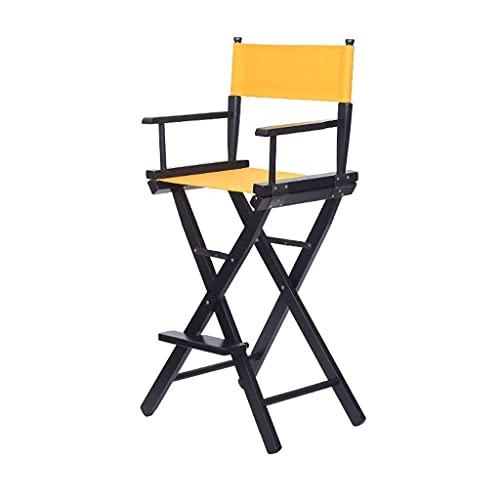 ZXJ Taburetes de baras de Madera Piernas de Madera Silla Plegable Negra Maquillaje portátil Taburete de Taburete para Desayuno Cocina Pub Café Toolols (Color: Rojo) (Color: Blanco) (Color : Yellow)