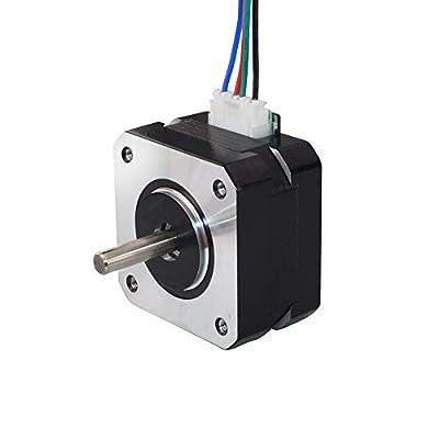 STEPPERONLINE Nema 17 Stepper Motor 13Ncm 1.8 deg 0.7A 4-lead 25mm Length for DIY CNC 3D Printer
