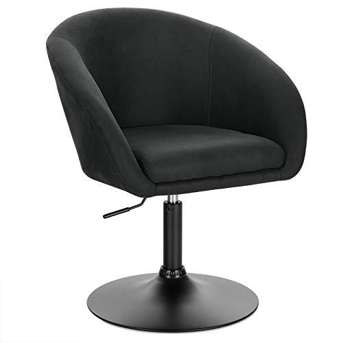 WOLTU BH290an-1 Barsessel 1er Set, stufenlose Höhenverstellung, Gestell aus Stahl, Stoffbezug, gut gepolsterte Sitzfläche mit Armlehne und Rücklehne, Anthrazit