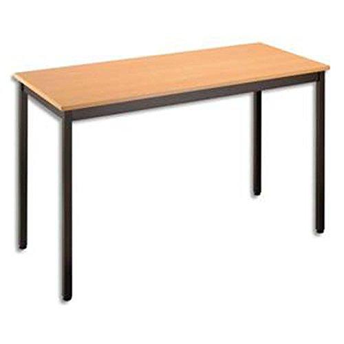 Table polyvalente rectangulaire 120 x 60 cm hêtre/noir