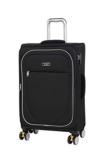 it luggage Lockdown 8 Wheel Lightweight Semi Expander Medium With Tsa Lock Suitcase, 70 cm, 86 L, Black