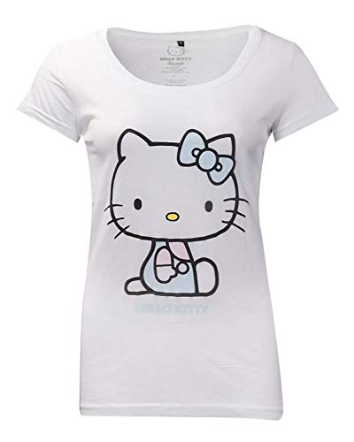 Difuzed Hello Kitty Ladies T-Shirt Embroidery Details Size L Sanrio Shirts