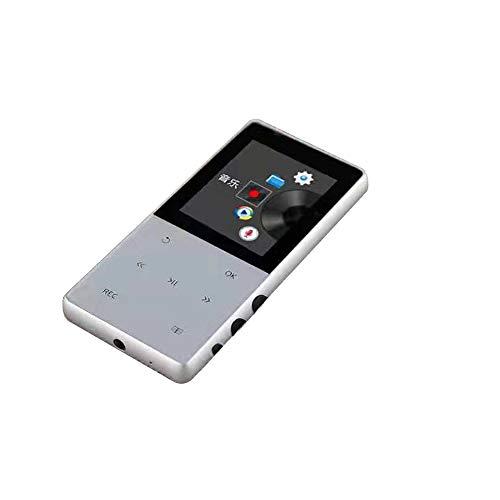 GIHI Reproductores De MP3 Pantalla De 1,8 Pulgadas Reproductor De Música Bluetooth 4.2 Sonido Portátil Sin Pérdida Reproductor De MP3 con Reproducción De Video Lectura De Texto,Plata