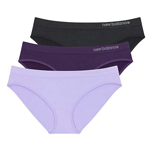 New Balance Women's Ultra Comfort Performance Seamless Bikini (3-Pack), X-Small