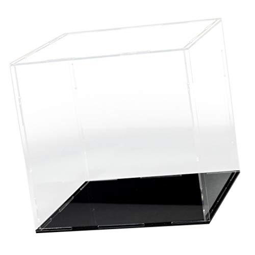 MagiDeal Transparent Schaukasten Acryl Vitrine Display Case Staubdicht für Auto/Actionfiguren/Puppen Modell - 15x15x15cm