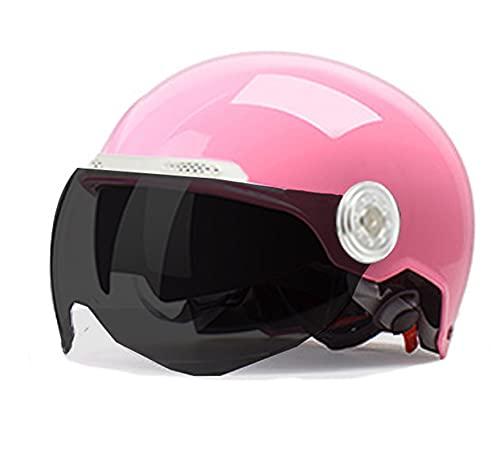 MIDUO Casco Modular Anti-colisión de Motocicleta con Casco de Motocross Anti-Niebla Negro Casco de Motocicleta Casco de Motocicleta Hombres y Mujeres Adultos Pink