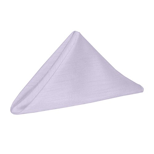 Ultimate Textile -1 Dozen- Reversible Shantung Satin - Majestic 17 x 17-Inch Cloth Napkins Lilac Light Purple