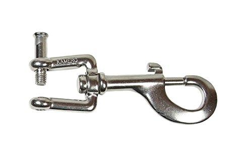 KAMERO Edelstahl Wirbelkarabiner, 120mm mit Innensechskant zu öffnen, V4A, rostfrei
