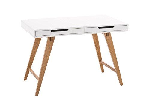 CLP Schreibtisch Porto V2 aus MDF und Eichenholz I Bürotisch mit 2 Schubladen und großer Arbeitsfläche I In verschiedenen Größen erhältlich 110 x 60 cm